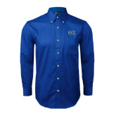 Royal Twill Button Down Long Sleeve-Greek Letters - One Color