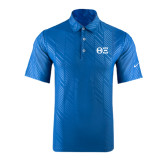 Nike Dri Fit Royal Embossed Polo-Greek Letters - One Color
