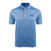 Light Blue Dry Mesh Polo-Greek Letters - One Color