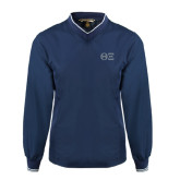 Navy Executive Windshirt-Greek Letters - One Color