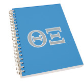 Clear 7 x 10 Spiral Journal Notebook-Greek Letters - One Color