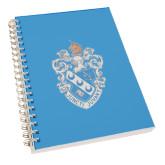 Clear 7 x 10 Spiral Journal Notebook-Crest