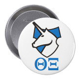 2.25 inch Round Button-Greek Letter x Unicorn Button