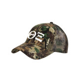 Camo Pro Style Mesh Back Structured Hat-Greek Letters - One Color