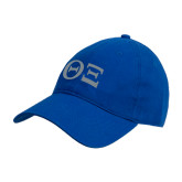 Royal Twill Unstructured Low Profile Hat-Greek Letters - One Color