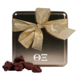 Decadent Chocolate Clusters Gold Medium Tin-Greek Letters - One Color Engraved