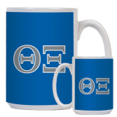 Full Color White Mug 15oz-Greek Letters - One Color