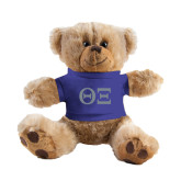 Plush Big Paw 8 1/2 inch Brown Bear w/Royal Shirt-Greek Letters - One Color