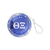 Light Up Blue Yo Yo-Greek Letters - One Color
