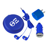 3 in 1 Royal Audio Travel Kit-Greek Letters - One Color