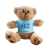 Plush Big Paw 8 1/2 inch Brown Bear w/Light Blue Shirt-Greek Letters - One Color