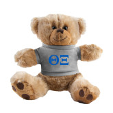 Plush Big Paw 8 1/2 inch Brown Bear w/Grey Shirt-Greek Letters - One Color