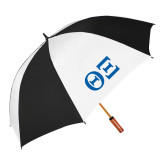 62 Inch Black/White Umbrella-Greek Letters - One Color