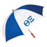 62 Inch Royal/White Umbrella-Greek Letters - One Color