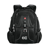 Wenger Swiss Army Mega Black Compu Backpack-Greek Letters - One Color