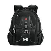 Wenger Swiss Army Mega Black Compu Backpack-Greek Letters - One Color
