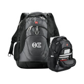 Wenger Swiss Army Tech Charcoal Compu Backpack-Greek Letters - One Color