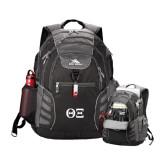 High Sierra Big Wig Black Compu Backpack-Greek Letters - One Color