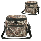 Big Buck Camo Sport Cooler-Greek Letters - One Color Tone