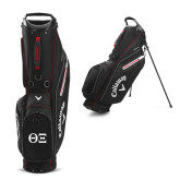 Callaway Hyper Lite 4 Black Stand Bag-Greek Letters - One Color