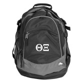 High Sierra Black Fat Boy Day Pack-Greek Letters - One Color