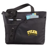 Excel Black Sport Utility Tote-Tyler Apaches Arched