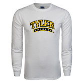 White Long Sleeve T Shirt-Tyler Apaches Arched