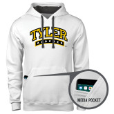 Contemporary Sofspun White Hoodie-Tyler Apaches Arched