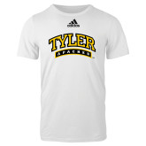 Adidas White Logo T Shirt-Tyler Apaches Arched