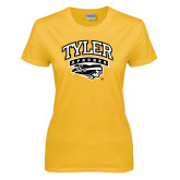Ladies Gold T Shirt-Official Logo