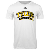 Adidas Climalite White Ultimate Performance Tee-Tyler Apaches Arched