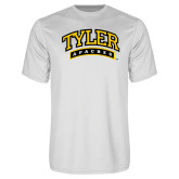 Performance White Tee-Tyler Apaches Arched