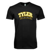 Next Level SoftStyle Black T Shirt-Tyler Apaches Arched