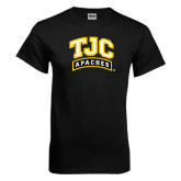 Black T Shirt-TJC Apaches Arched