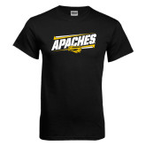 Black T Shirt-Slanted Apaches