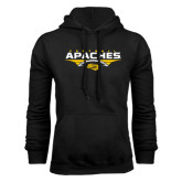Black Fleece Hoodie-Apaches Football Flat