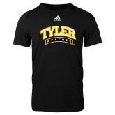 Adidas Black Logo T Shirt-Tyler Apaches Arched