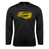 Performance Black Longsleeve Shirt-Apache Head