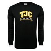 Black Long Sleeve TShirt-TJC Apaches Arched