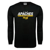 Black Long Sleeve TShirt-TJC Apaches Stencil