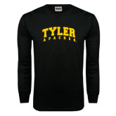 Black Long Sleeve TShirt-Arched Tyler Apaches