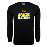 Black Long Sleeve TShirt-Apache Nation