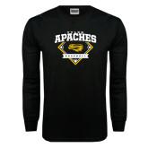 Black Long Sleeve TShirt-Tyler Apaches Baseball Diamond