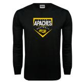 Black Long Sleeve TShirt-Tyler Apaches Softball Plate