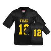 Youth Replica Black Football Jersey-#12