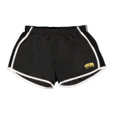 Ladies Black/White Team Short-Tyler Apaches Arched