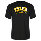 Performance Black Tee-Tyler Apaches Arched