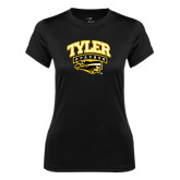 Ladies Syntrel Performance Black Tee-Official Logo