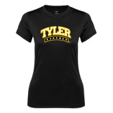 Ladies Syntrel Performance Black Tee-Tyler Apaches Arched