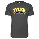 Next Level SoftStyle Charcoal T Shirt-Tyler Apaches Arched